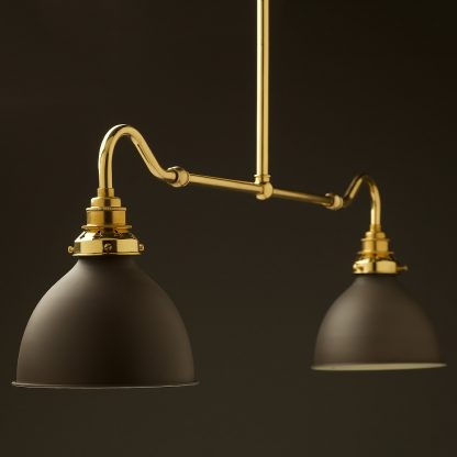 New brass single drop small table light bronze dome