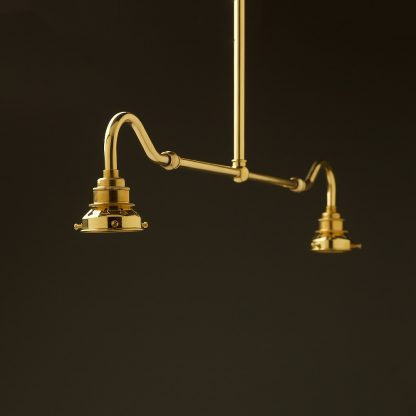 New brass single drop small table light no shades