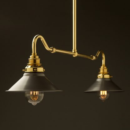 New brass single drop small table light steel hat