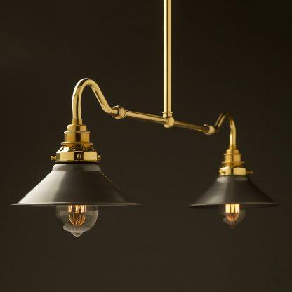 New brass single drop small table light steel hat