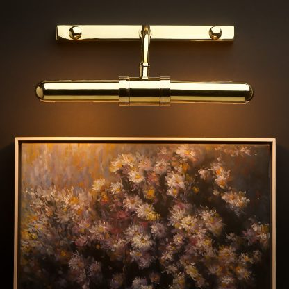 Twin tube thin brass small picture display light