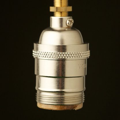 Nickel plated brass E26 Socket
