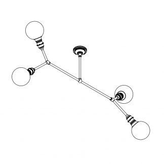 4 bulb angled brass bar chandelier dimensions