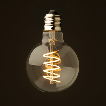 4 Watt Dimmable Spiral Filament LED E27 Clear 80mm