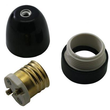 E40 black ceramic lamp holder