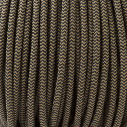 Pulley Cord 3 Core Fabric Covered Flex sand denim