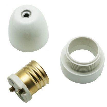 E40 white ceramic lamp holder