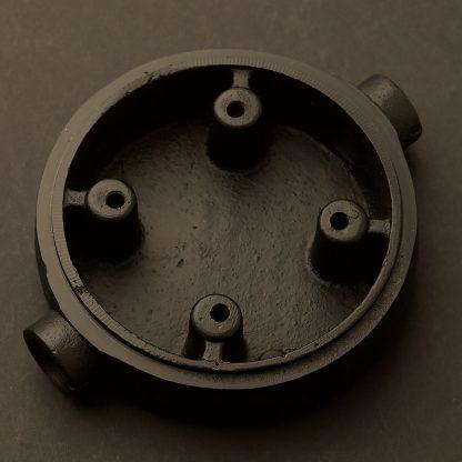 2 Way 20mm Conduit plumbing pipe mount Junction Box Aluminium black
