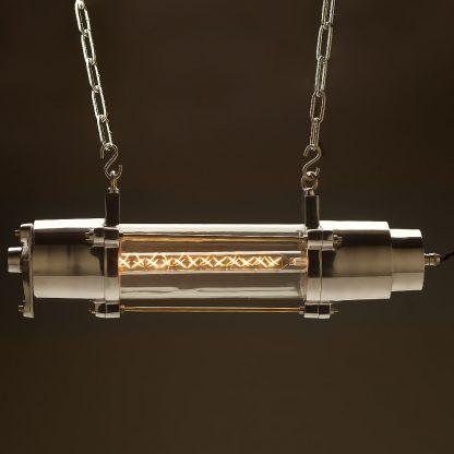 500 mm glass explosion proof cast aluminium light zig-zag LED tube