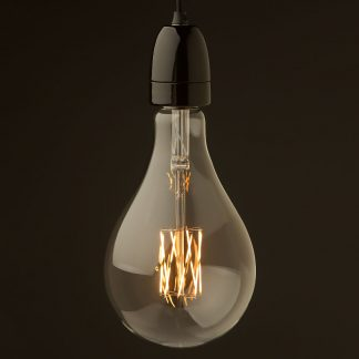 E40 Black porcelain pendant A165 LED