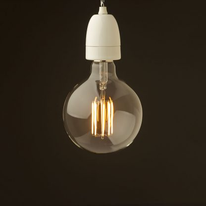 E40 White porcelain pendant G150 LED