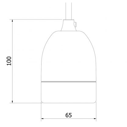 E40 porcelain pendant dimensions
