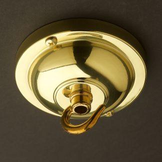Polished Brass Hook ceiling rose 90mm