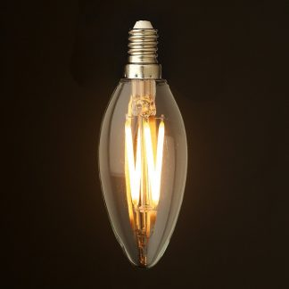 3 Watt Dimmable Filament LED E12 Candle Bulb