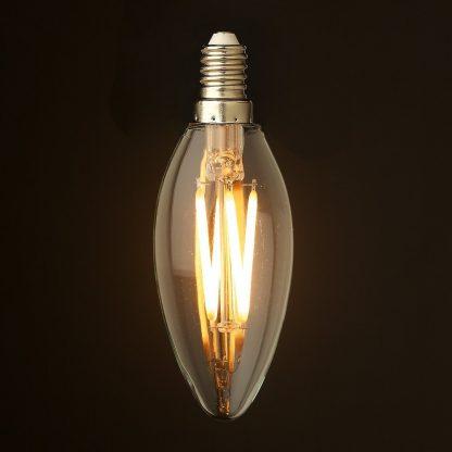 3 Watt Dimmable Filament LED E12 Candle Bulb