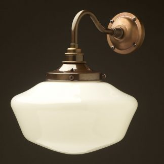 Br Coventry Schoolhouse Shade Wall Light