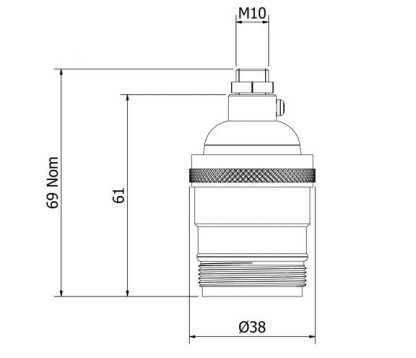 Brass E26 Socket dimensions