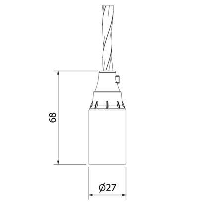 E12 Bakelite socket and cordgrip dimensions