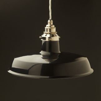 Black Enamel Factory Pendant ES nickel