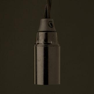 E12 Bakelite socket and cordgrip