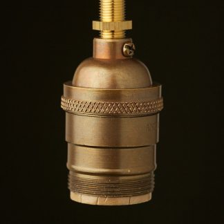 Antique brass E26 Socket UNO thread