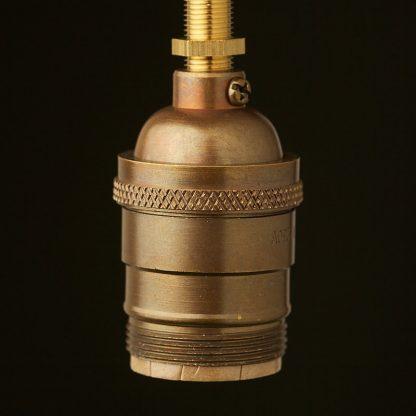 Antique brass E26 Socket UNO thread