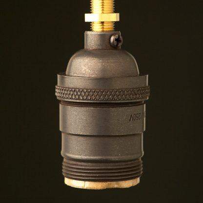 Bronze plated brass E26 Socket UNO thread
