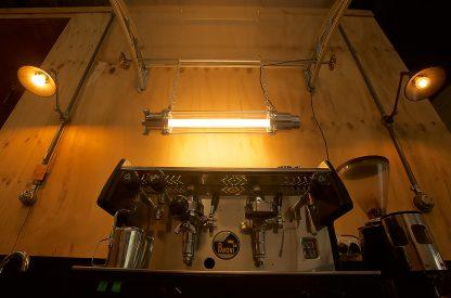 800 mm glass explosion proof cast aluminium light coffe machine