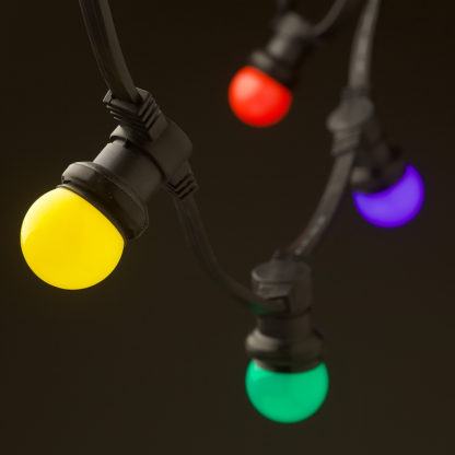Low Voltage G45 Colored LED Commercial Festoon Kit 25cm intervals