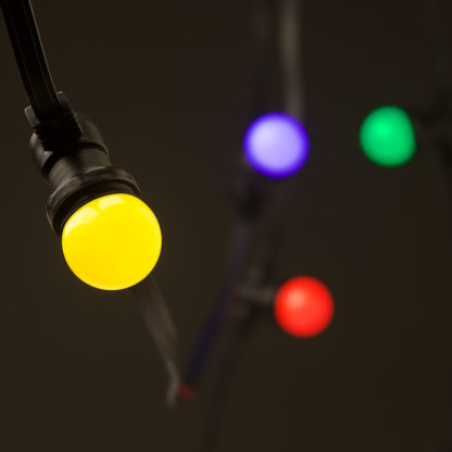 Low Voltage G45 Colored LED Commercial Festoon Kit 90cm intervals