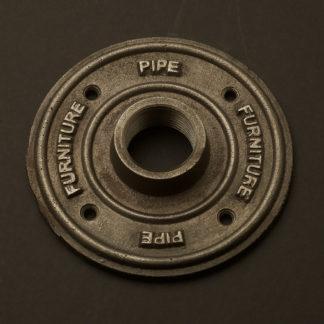 One Inch Black Steel 34mm decorative flange plate