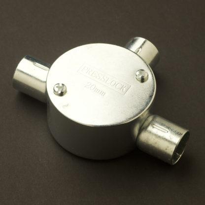 3 Way 20mm Locfit Conduit Outlet Junction Box