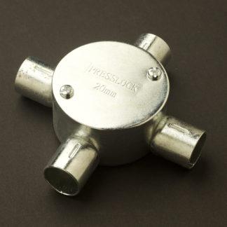 4 Way 20mm Locfit Conduit Outlet Junction Box