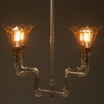 Plumbing Pipe 4 bulb formal chandelier cages
