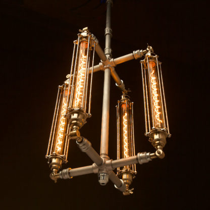Plumbing Pipe 4 cage chandelier