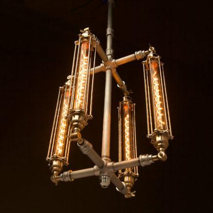 Plumbing Pipe 4 cage chandelier