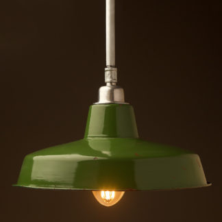 Fixed 450mm Vintage Green Enamel Factory shade