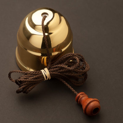 Polished brass pull switch