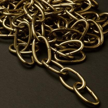 Heavy antique brass finish oval lighting chain