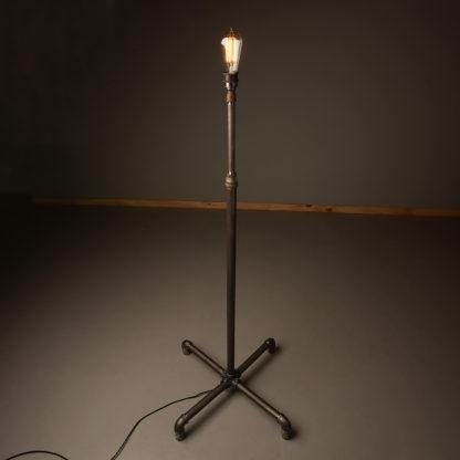 Plumbing pipe standard lamp raw steel
