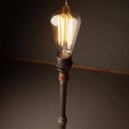 Plumbing-pipe-standard-lamp-raw-steel-lamp-holder-globe