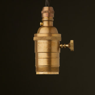 Antique Brass E26 Switched Pendant Socket UNO thread