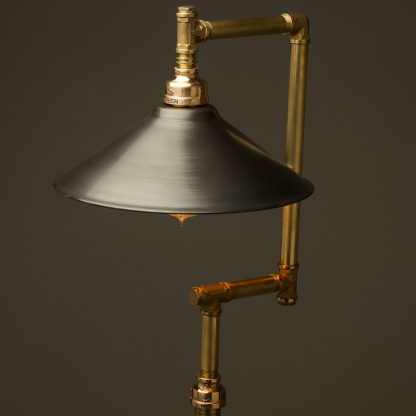Multi-shade-solid-brass-plumbing-pipe-floor-lamp-antique-steel