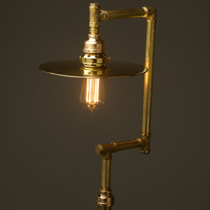 Multi-shade-solid-brass-plumbing-pipe-floor-lamp-flat-brass