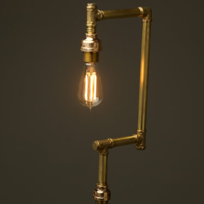 Multi-shade-solid-brass-plumbing-pipe-floor-lamp-no-shade
