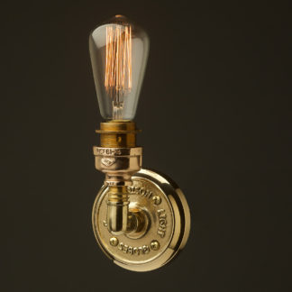 Small Brass Plumbing pipe single globe wall light