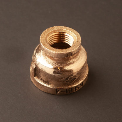 """1"""" inch to half inch plumbing pipe coupler brass"""
