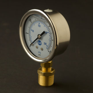 Half inch steel case 15mm pressure gauge