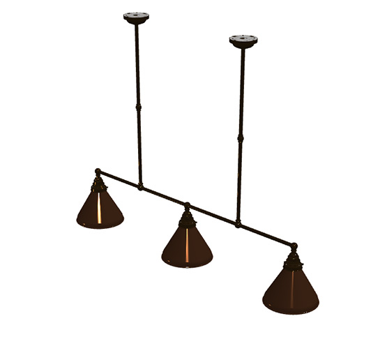 Bronze 1024mm edison billiard table light bronze cone