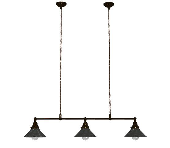 Bronze edison billiard table pendant 820mm with rustic steel shade